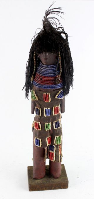 Antique African Tribe Collectible Doll photo