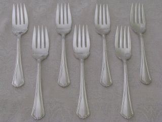 Puritan Anchor Rogers Silverplate 7 Salad Forks 6¼