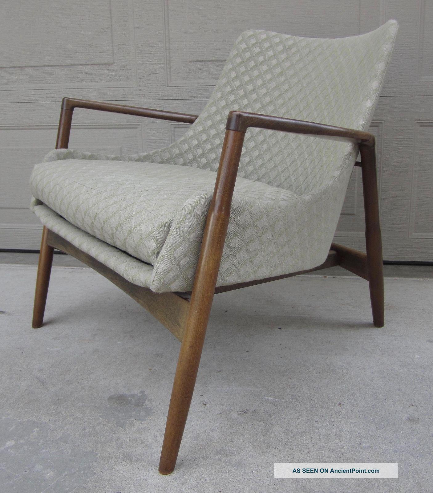 Ib Kofod   Larsen Danish Modern Lounge Arm Chair Selig Elizabeth Mid Century
