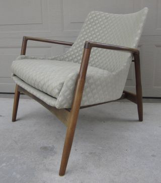 Ib Kofod - Larsen Danish Modern Lounge Arm Chair Selig Elizabeth Mid Century photo