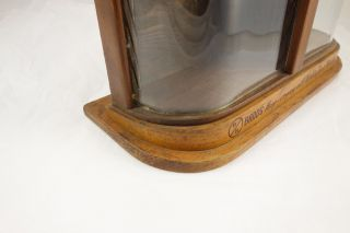 Antique Br Bands Wrist Watch Oak Wood & Glass Store Counter Display Case Cabinet photo