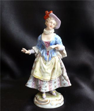 Antique Dressel Kister Germany Figurine Of Woman Reading Letter photo