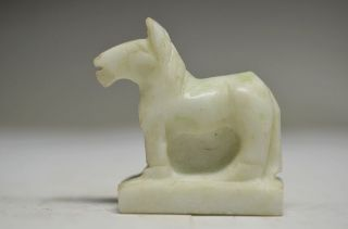 Delicate Chinese Stone Hand Carved Horse Statue Fs43 photo