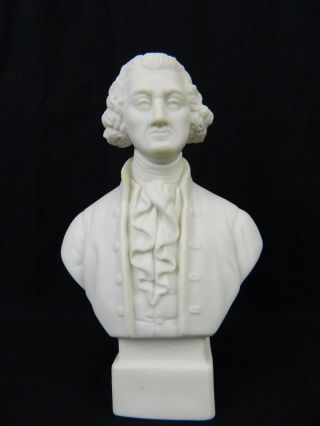 Antique Parian Ware Porcelain Bust President George Washington Sculpture R&l photo
