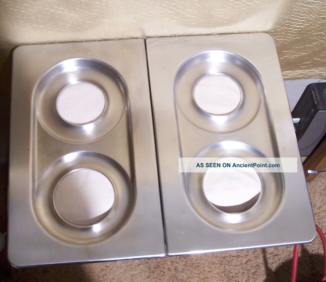 Wedgewood Vintage Gas Stove Parts 2 Chrome Stove Tops, Pans