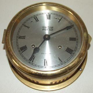 Vintage Dutch 4 Jewel Brass Maritime Ship ' S Bell Strike Nautical Clock photo
