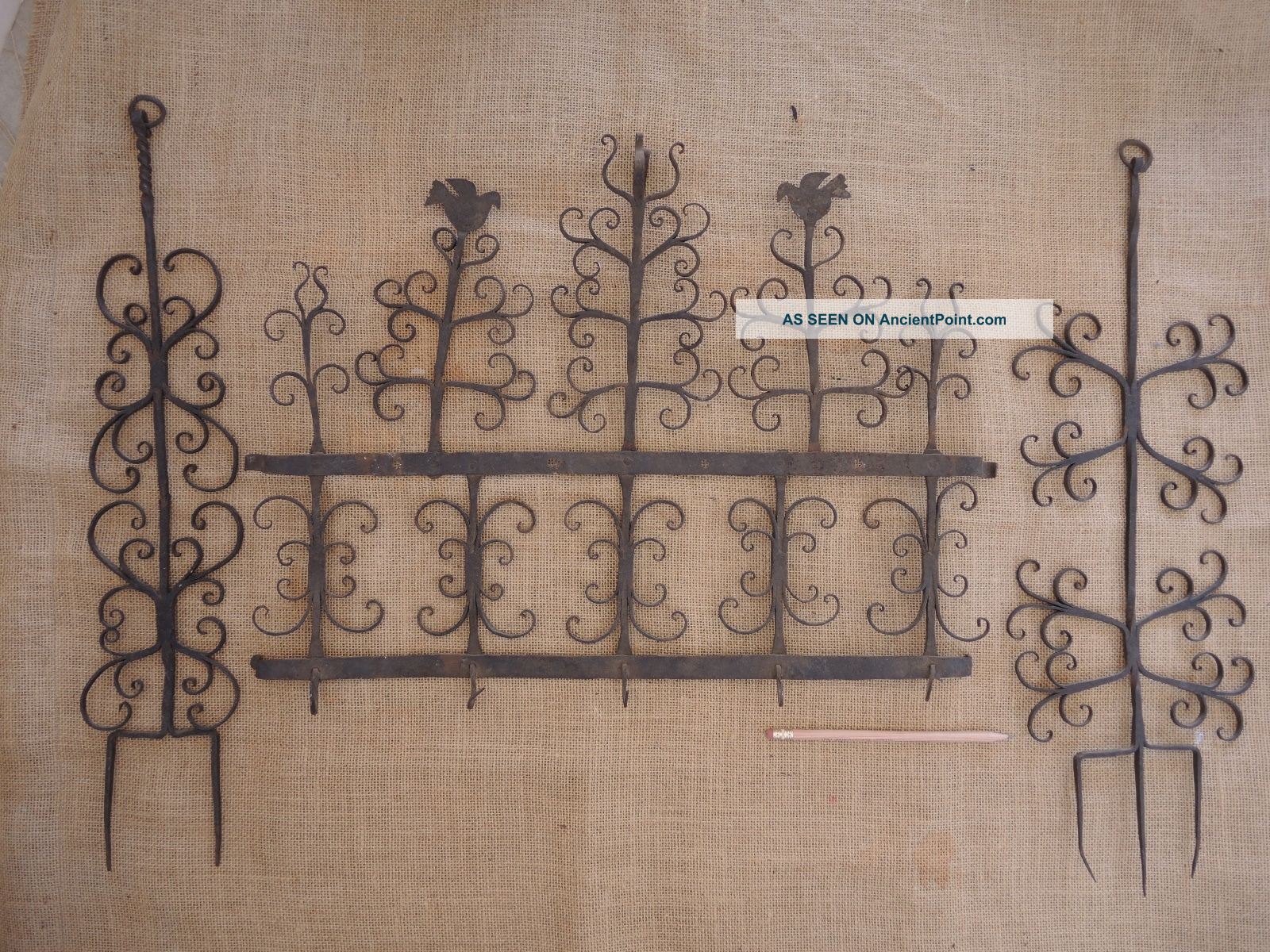Private Buyer Only: Antique Herb Rack Hearth Ware photo