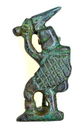 Roman Bronze Legionary Fibula Brooch photo