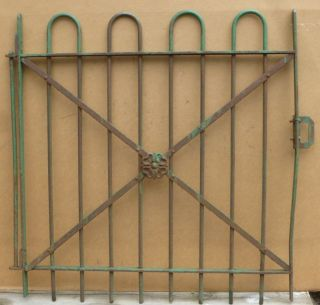 Antique Hairpin Wrought Iron Garden Gate - Architectural Salvage 34