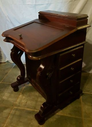 Vintage Ship Captain ' S Writing Desk,  Davenport Maritime Cabinet,  Small Secretary photo