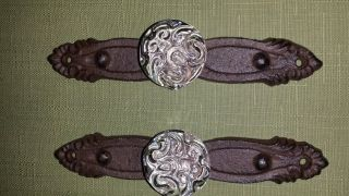 Two Cast Iron Decorative Glass Door Knobs And Hardware photo