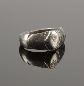 Ancient Roman Silver Ring - Circa 2nd C Ad photo