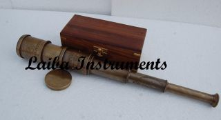 Vintage Telescope Nautical Telescope Antique Telescope Brass Pirate Spyglass photo
