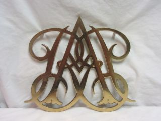 Large Vintage Queen Ann Cypher Brass Trivet 1950 4 Footed Williamsburg photo