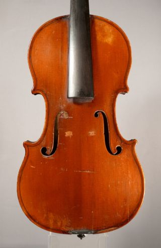 Old French Violin For Restoration / Paul Jombar 1893 No 12 For Repair 35,  6 Cm photo