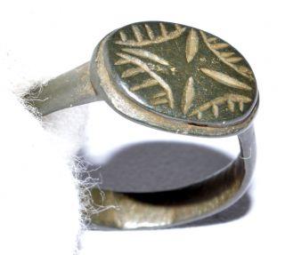 Medieval Religious Ring - Star Of Bethlehem - Historical Gift - Qr5 photo