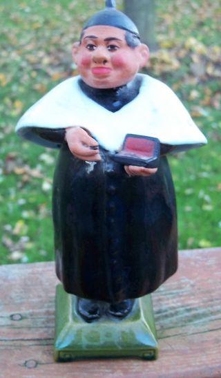 Ceramic Porcelain Victorian Man Figurine Portugal Wobble Bobble Head photo