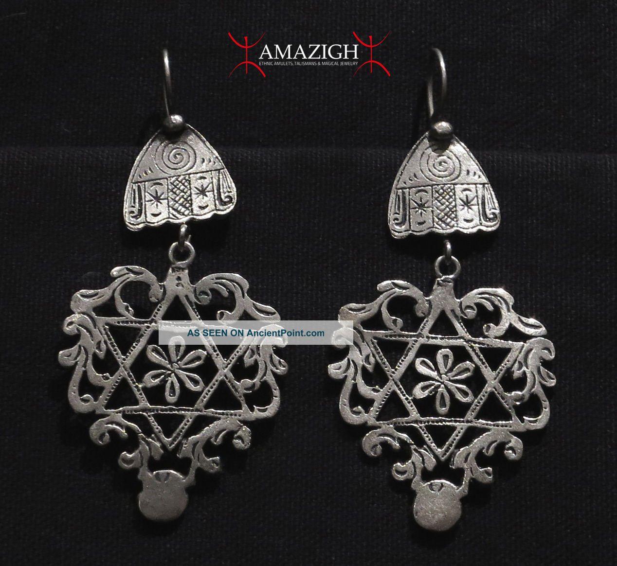 Hands of Fatima Old Berber Earrings Morocco