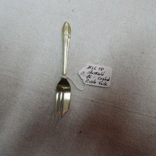 Msl Td Sheffield England Silverplate Pickle Fork Pattern: Loxley photo