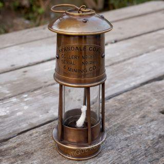 Lantern Brass Antique Nautical Houselight,  Glass Marine Yellow Light Gift photo