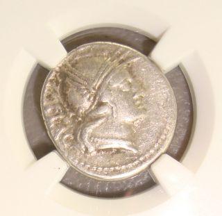 77 Bc L.  Rutilius Flaccus Ancient Roman Republic Silver Denarius Ngc Choice Vf photo