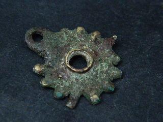 Ancient Bronze Pendant Islamic 1400 Ad Br1329 photo
