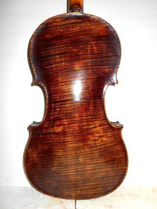 Vintage Old Antique 1800s 1 Pc Back Full Size Violin - photo