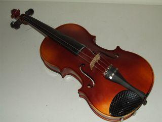 Vintage 1920s Zeswitz Czech Tiger Maple Ebony Fingerboard Violin With Tourte Bow photo