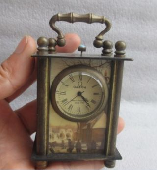 8.  8 Cm /chinese Ancient Copper Hand - Carved Can Use Mechanical Clock Timer Nr photo