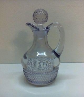 Antique Light Amethyst Cruet Glass Stopper photo
