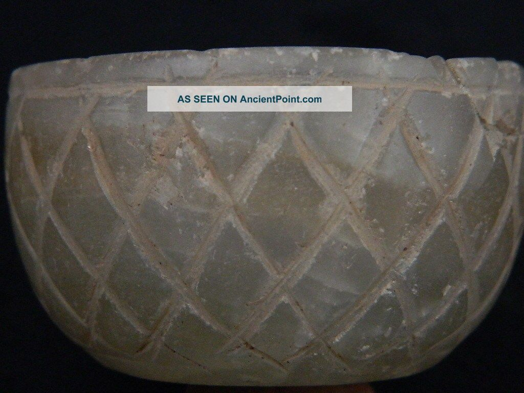 Ancient Crystal Stone Bowl Bactrian 300 Bc Stn15065 Byzantine photo
