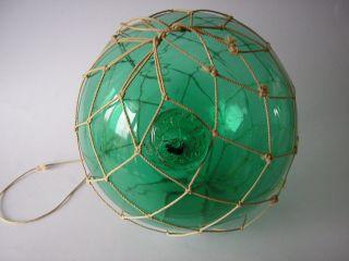 A Very Rare,  Green Fishing Float Ball Oresten Stranne Sweden 6
