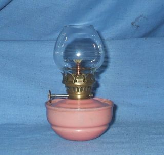 Vintage Small Pink Kelly / Pixie / Nursery Oil Lamp photo