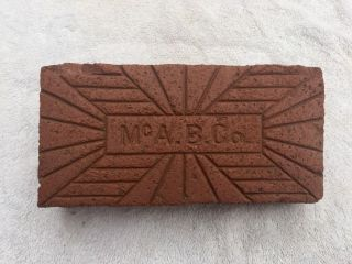 Rare.  Vintage.  Mc.  A.  B.  Co.  Mcalester,  Oklahoma Brick Co. photo
