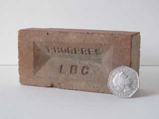 Vintage Minature Brick Sample London Brick Company Phorpres Advert Paper Weight photo