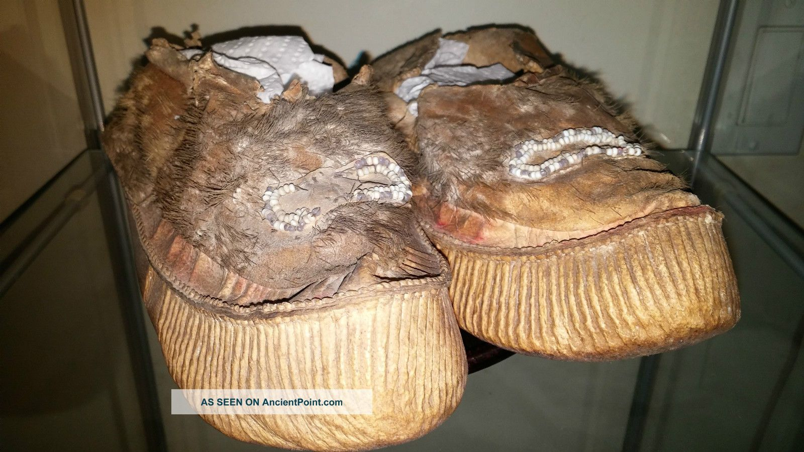 Northwest Coast Tlingit Moccasins.  Alaska Museum Specimens.  Circa (1820 ' S) Native American photo