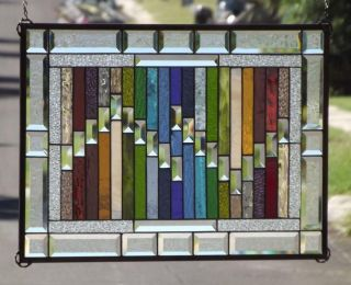 • Wild Thing • Beveled Stained Glass Window Panel • 25 3/4 - 18 3/4