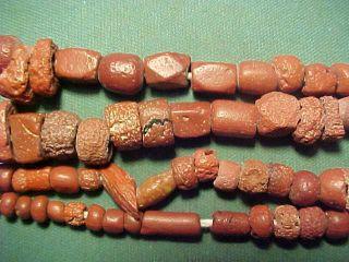 Necklace Of Roman Terracotta Beads Circa 100 - 400 Ad photo