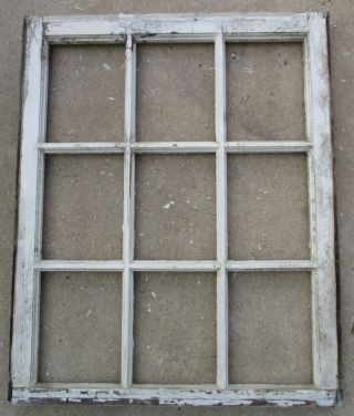 Antique Vtge.  9 Pane Window Frame Wedding Picture Frame 27 - 1/2