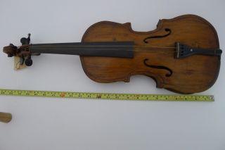 Vtg 1880 Violin American Made Folk Fiddle Parts Old 4/4 German Immigrant photo