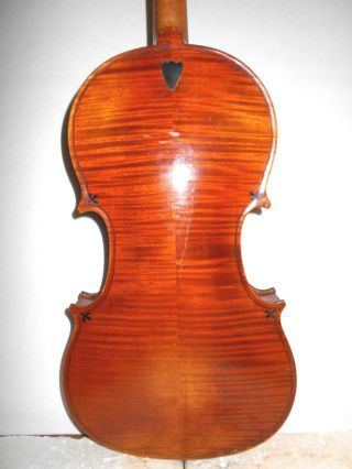 Antique Old Vintage 2 Pc Curly Maple Back Full Size Violin - photo