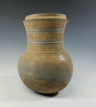 Large Silla Dynasty Antique 7th Century Korean Ancient Celadon Ceramic Vessel photo