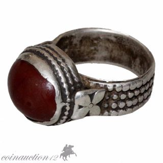 Intact Medieval 1500 - 1600 Ad Silver European Ring photo