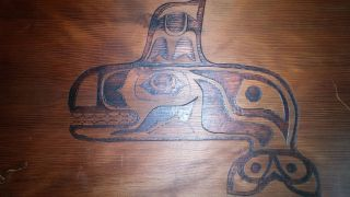 Northwest Coast Cedar Wood Item.  Early - Mid 20th Cent photo