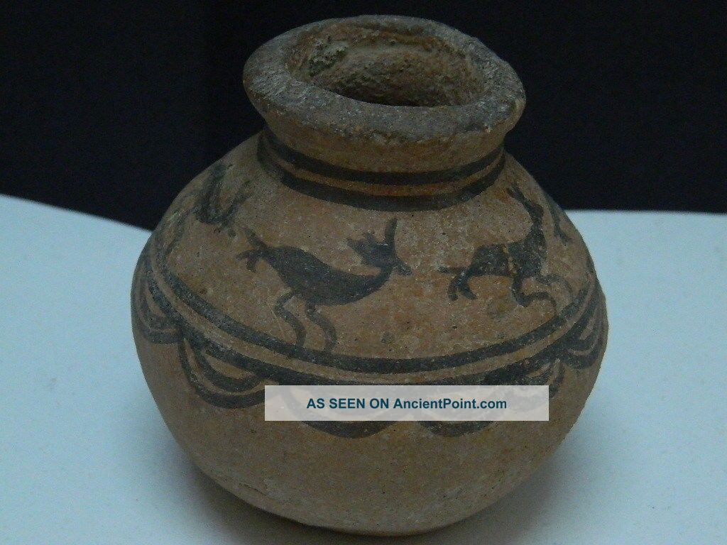 Ancient Teracotta Painted Pot With Animals Indus Valley 2500 Bc Pt15238 Near Eastern photo