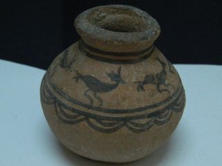 Ancient Teracotta Painted Pot With Animals Indus Valley 2500 Bc Pt15238 photo