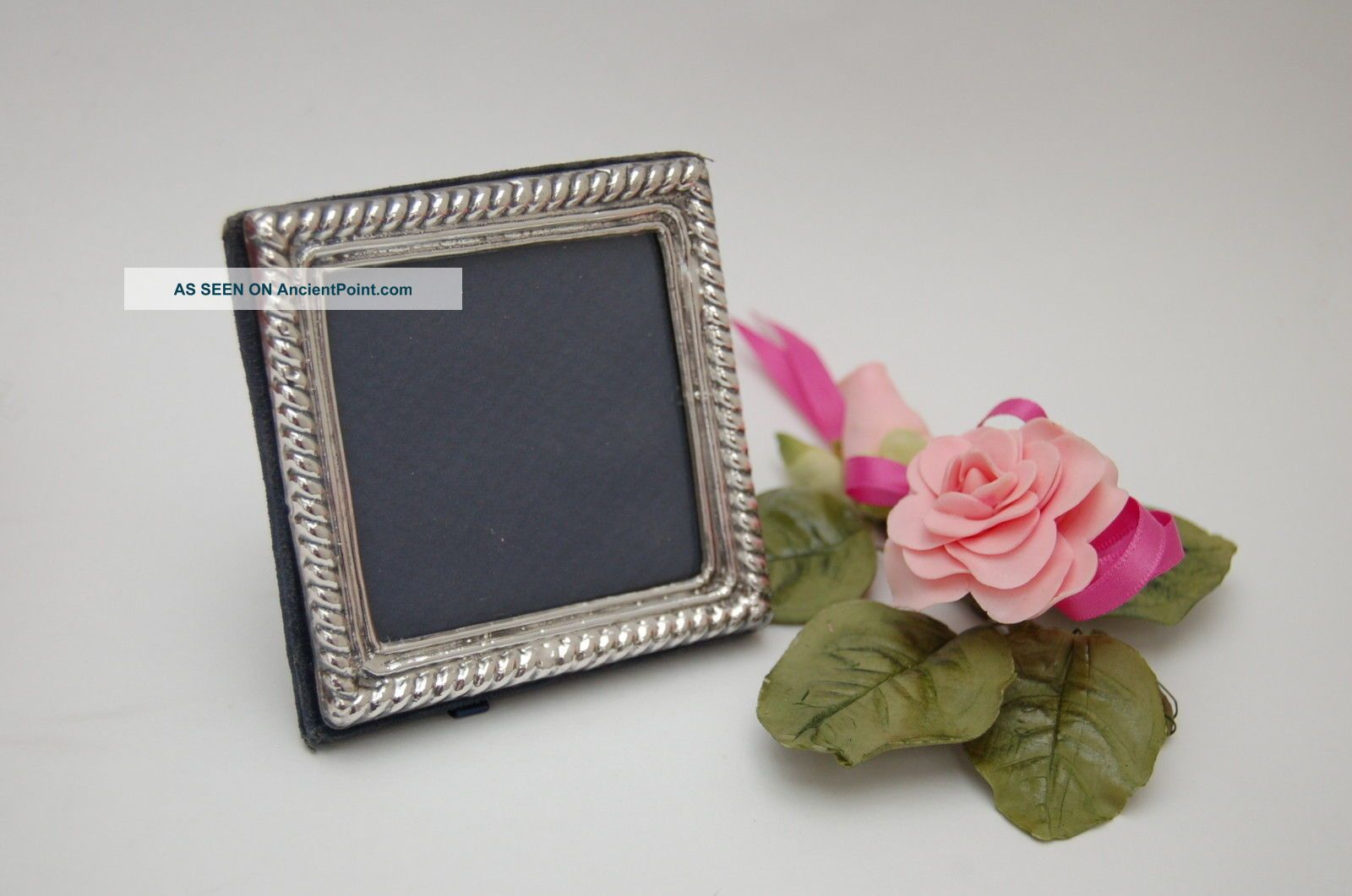 Lovely 3.  5 Inch Square Hallmarked Solid Silver Photo Photograph Frame 1992 Rh Frames photo