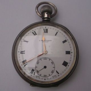 Antique Silver Pocket Watch J.  W.  Benson Stamped Weight 104.  3g Sub Dial photo