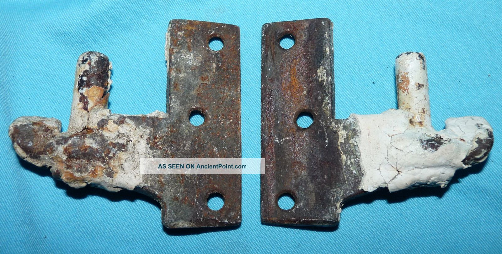 Antique Vtg Cast Iron Window Shutter Hinge Pivot Salvage