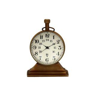 Artshai 2 Inch Size Antique Look Table Clock,  Made From Brass,  Desk Clock,  Uniqu photo
